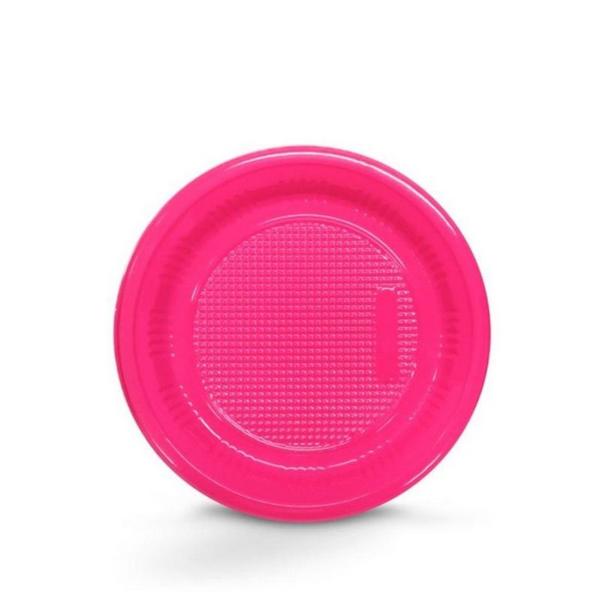 Prato Descartável 15cm Pink c/10 - Kaixote