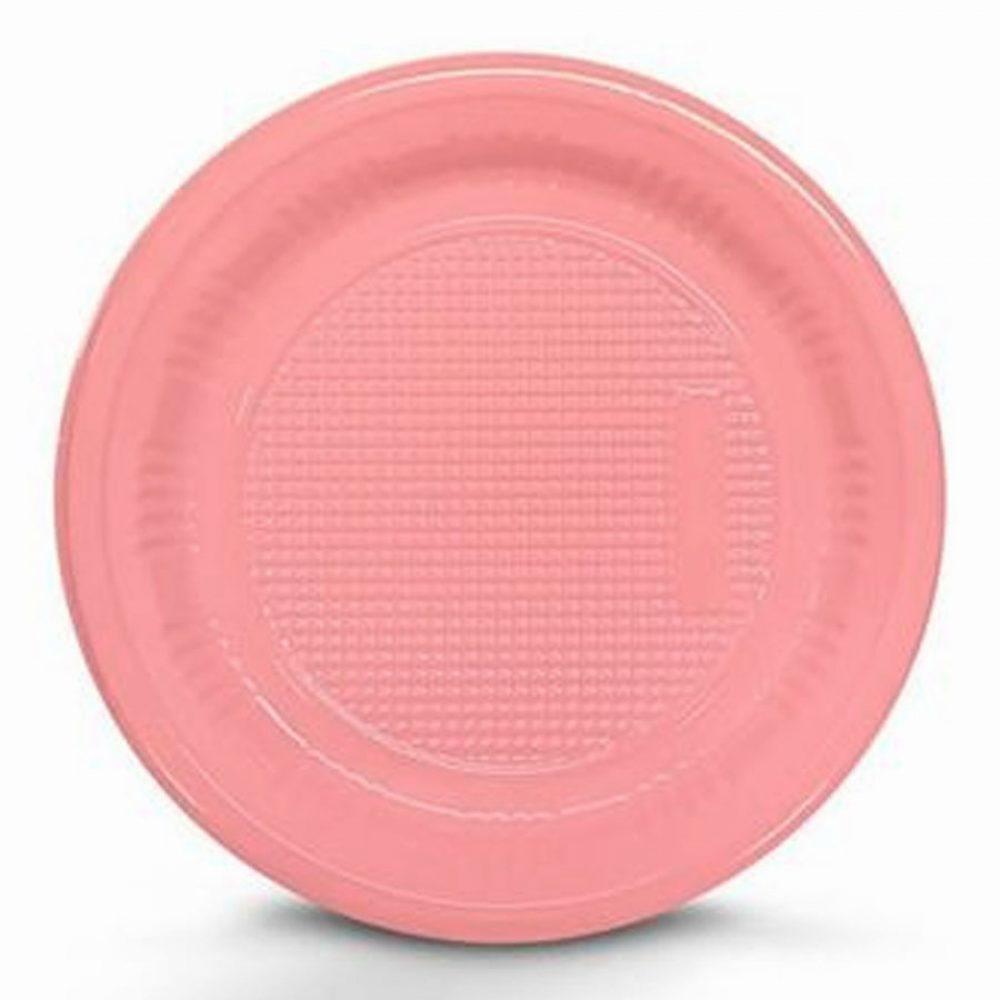 Prato Descartável 15cm Rosa c/10 - Kaixote