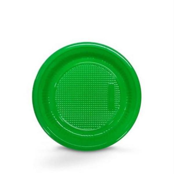 Prato Descartável 15cm Verde Escuro c/10 - Kaixote