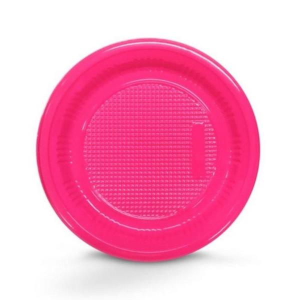 Prato Descartável 18cm Pink c/10 - Kaixote