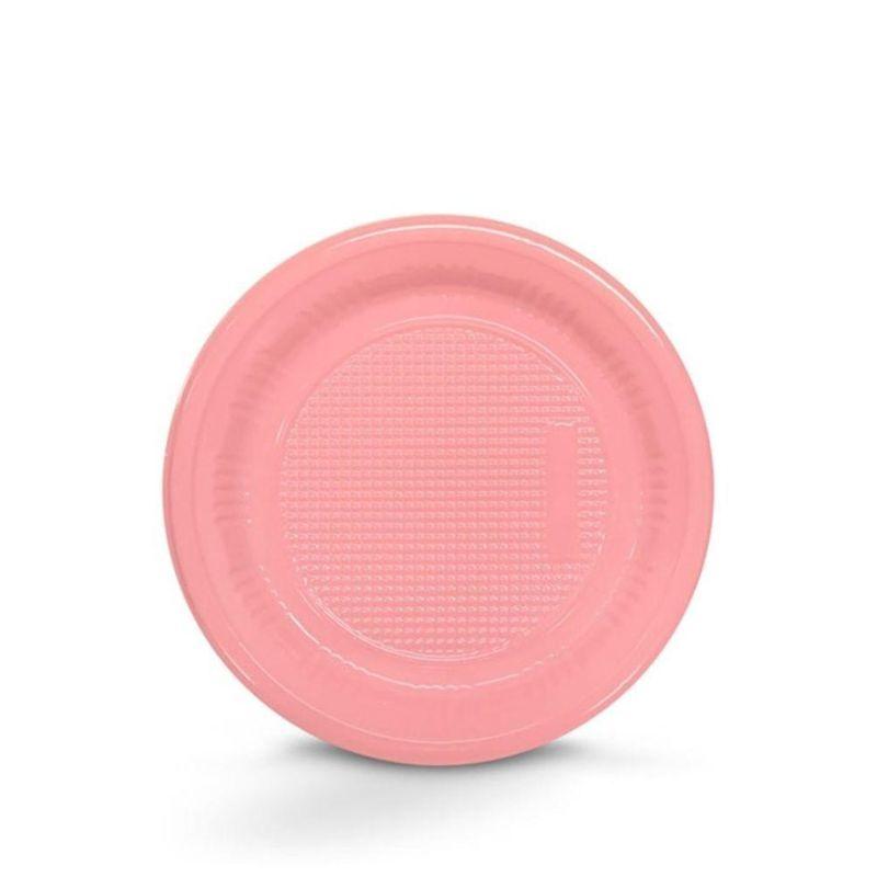 Prato Descartável 18cm Rosa Claro c/10 - Kaixote