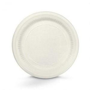 Prato Descartável Refeição 23,5cm Branco c/10 - Kaixote