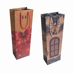 Sacola Natal p/Vinho Natal (Modelos Sortidos) - Mf Embalagens