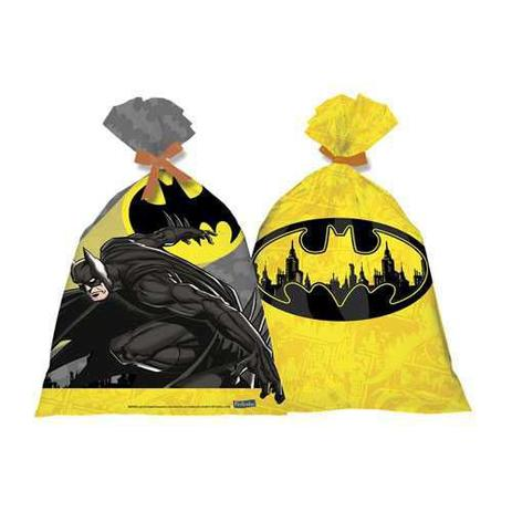 Sacola Plástica Batman Geek c/8 - Festcolor