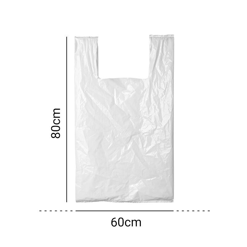 Sacola Plástica Branca 60x80cm c/100 - Rosso