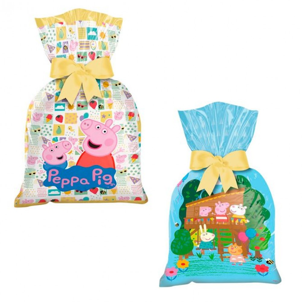 Sacola Plástica Peppa Pig c/12 - Regina