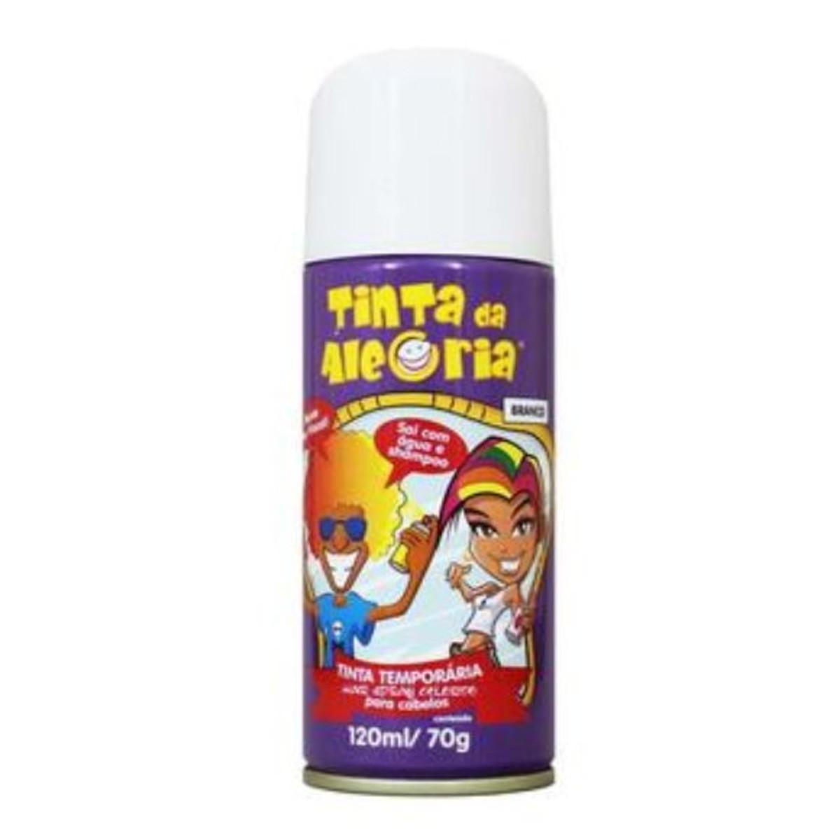 Spray para Cabelo Branco 120ml - Tinta Da Alegria