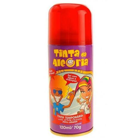 Spray para Cabelo Vermelho 120ml - Tinta Da Alegria