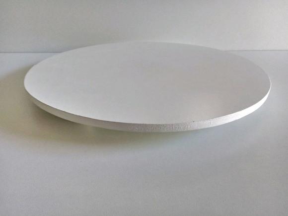 Tabuleiro Redondo para Bolo 25cm Branco 6mm - ADT