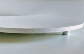 Tabuleiro Redondo para Bolo 35cm Branco 6mm - ADT