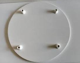Tabuleiro Redondo para Bolo 40cm Branco 6mm - ADT