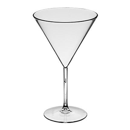 Taça de Martini Acrílico Transparente El Caribe 260mL - Neoplas