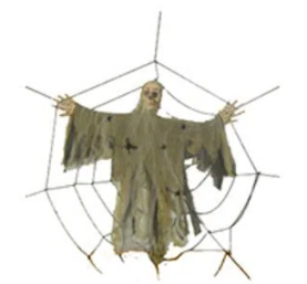 Teia de Aranha com Cadáver Decorativo 183cm - Matsumoto