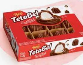 TetaBel Tradicional Coberto com Chocolate c/12 - Bel