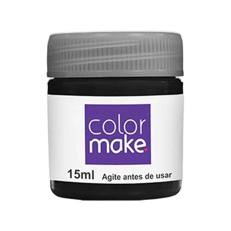 Tinta Facial 15ml Preta - ColorMake