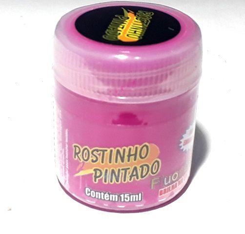 Tinta Facial Fluorescente 15ml Rosa - Rostinho Pintado