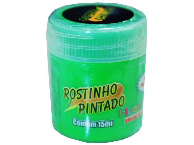 Tinta Facial Fluorescente 15ml Verde Limão - Rostinho Pintado