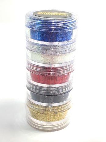 Tinta Maquiagem para Pele com Glitter c/5 - Rostinho Pintado