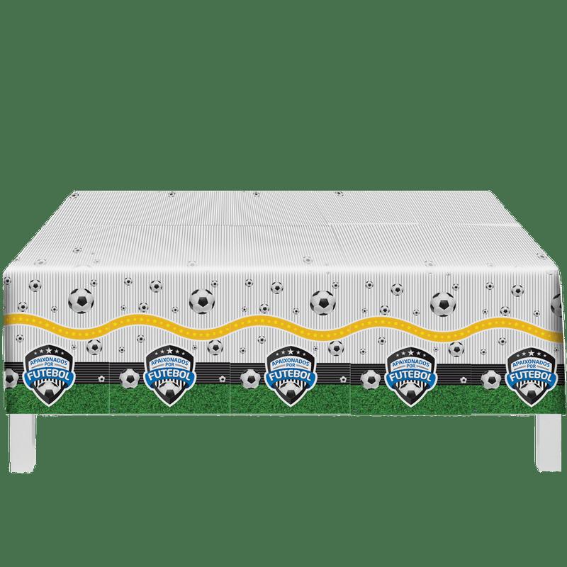 Toalha De Mesa Apaixonados Por Futebol 1,20m X 1,80m - Festcolor
