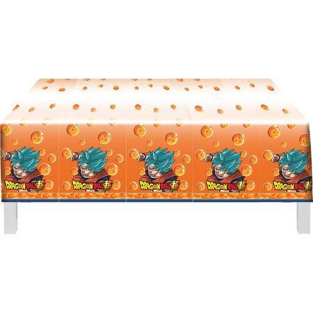 Toalha De Mesa Plástica Dragon Ball 1,20m X 1,80m - Festcolor