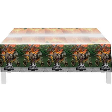 Toalha De Mesa Plástica Jurassic World 1,20m X 1,80m - Festcolor