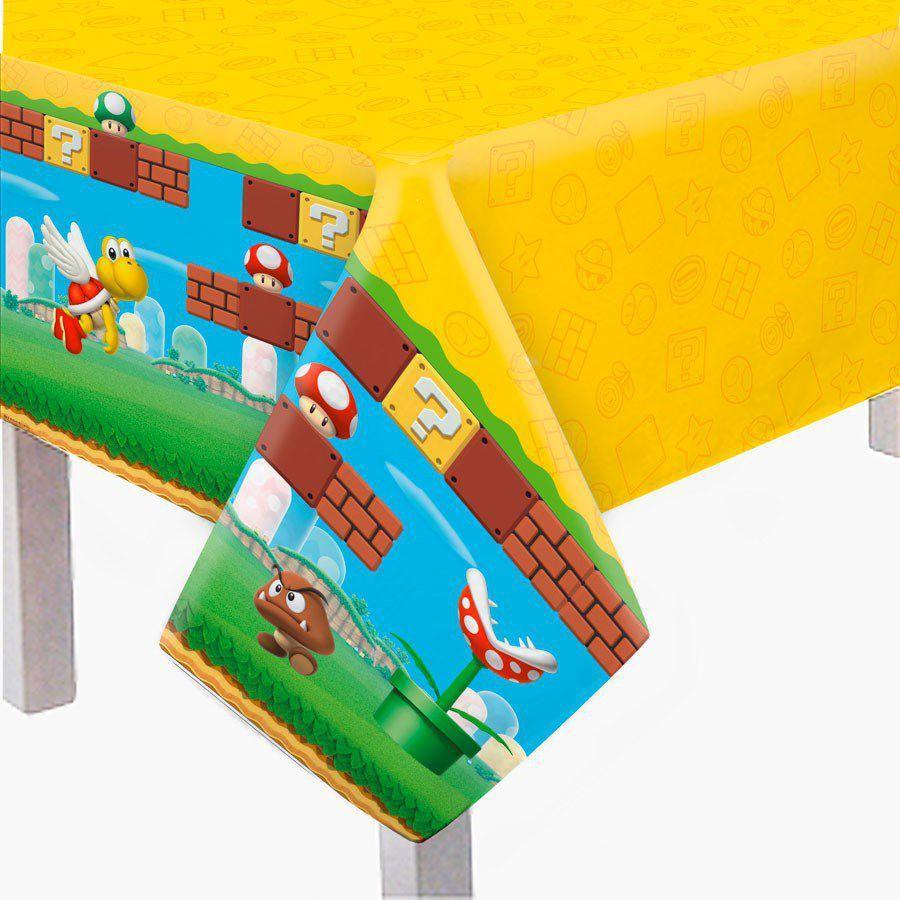 Toalha De Mesa Super Mario 1,18m X 1,80m - Cromus