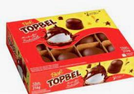 TopBel Marshmallow Coberto com Chocolate c/12 - Bel