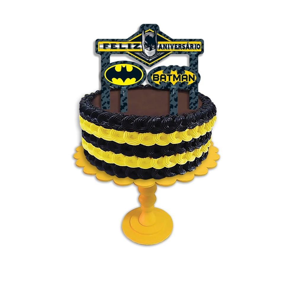 Topper Para Bolo Batman Geek c/3 - Festcolor