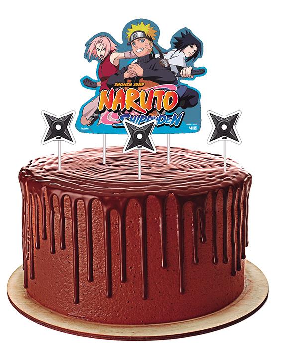 Topper Para Bolo Naruto - Festcolor