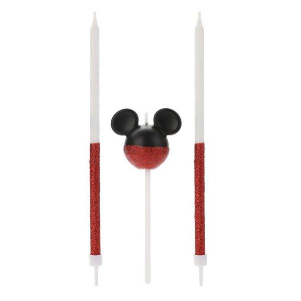 Vela de Aniversário 360 Glitter Vermelho Mickey - Silver Festas