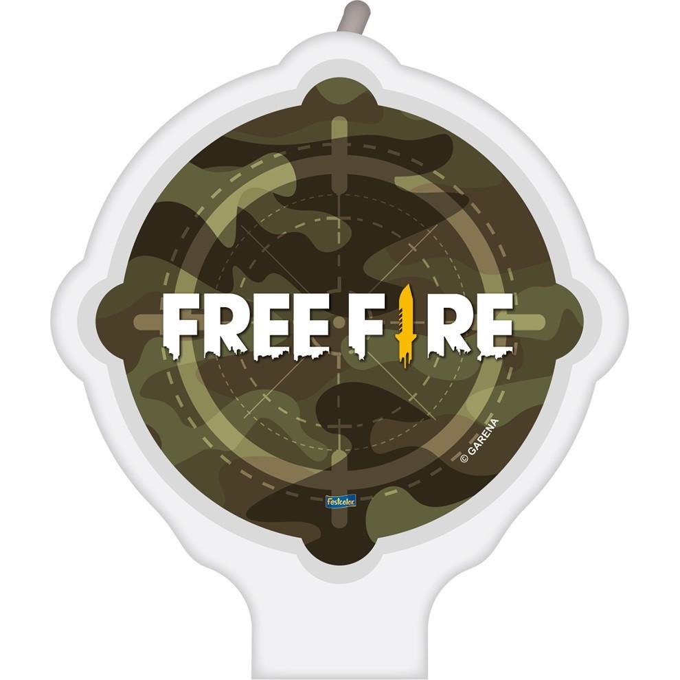 Vela de Aniversário Free Fire - Festcolor