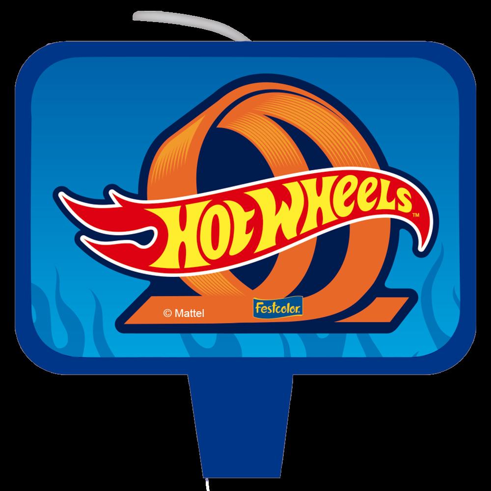 Vela de Aniversário Hot Wheels - Festcolor