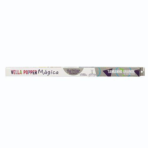 Vela de Aniversário Mágica 40cm c/10 - Popper