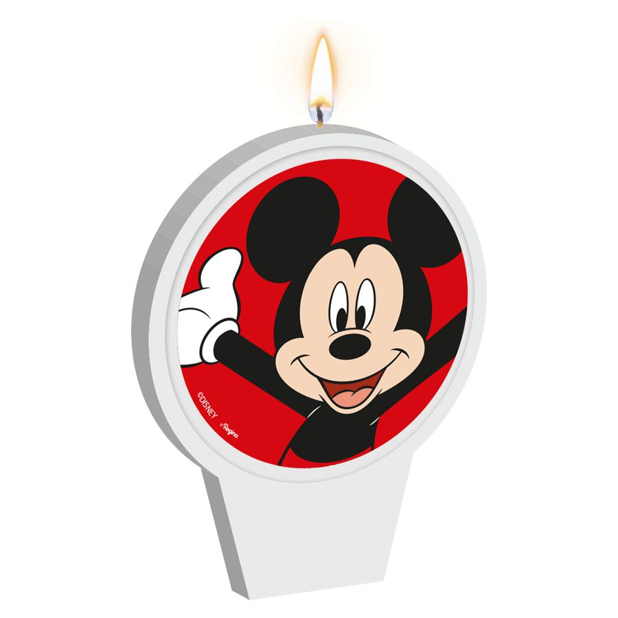 Vela de Aniversário Mickey Mouse - Regina