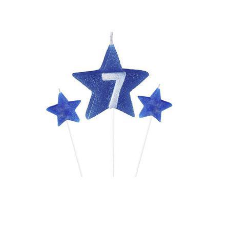 Vela de Aniversário New Star Azul - Curifest
