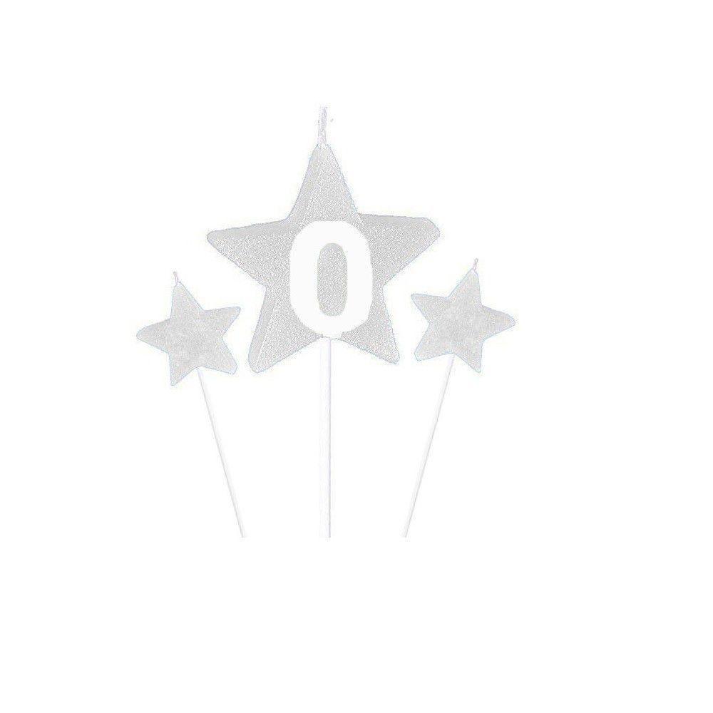 Vela de Aniversário New Star Branca - Curifest