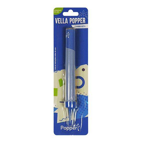 Vela de Aniversário Popper Azul - Popper