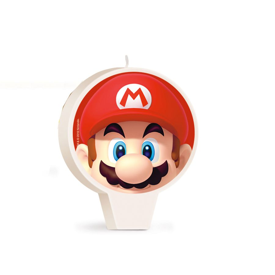 Vela de Aniversário Super Mario - Cromus