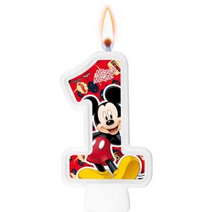 Vela Numeral Mickey Número 1 - Regina
