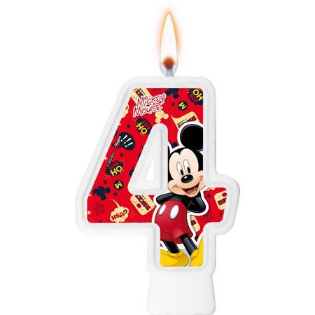 Vela Numeral Mickey Número 4 - Regina