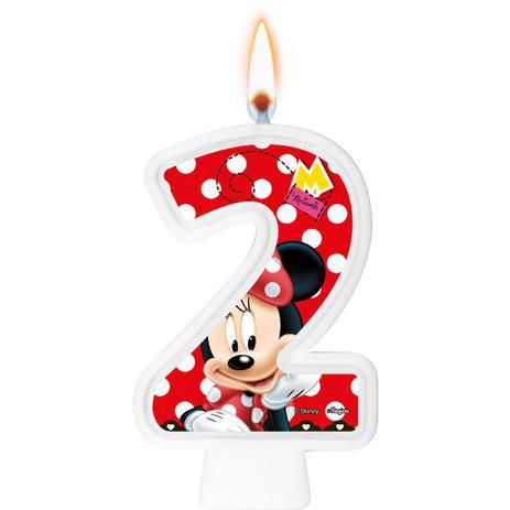 Vela Numeral Minnie Número 2 - Regina