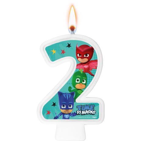 Vela Numeral PJ Masks Número 2 - Regina