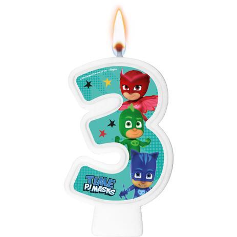 Vela Numeral PJ Masks Número 3 - Regina