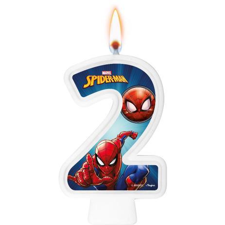 Vela Numeral Spider Man Número 2 - Regina