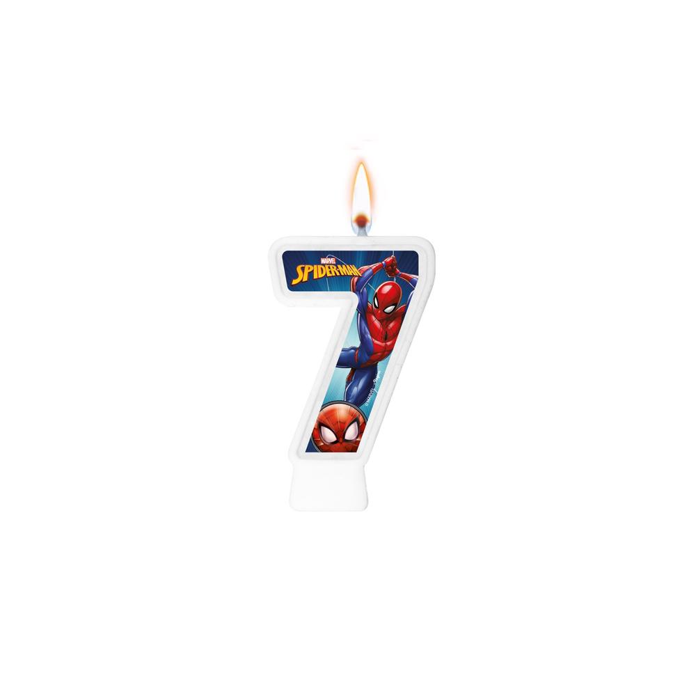 Vela Numeral Spider Man Número 7 - Regina