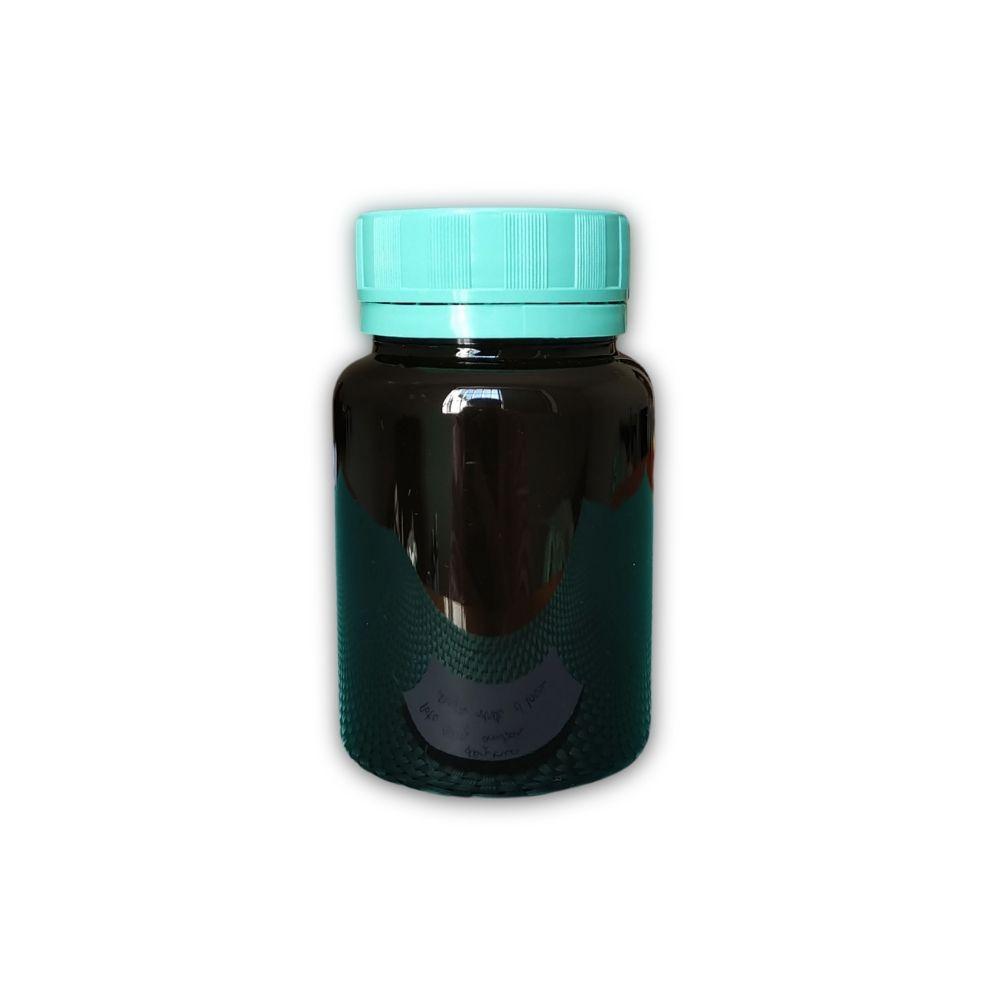 Pote 100g plástico âmbar tampa Lacre  - Flora Fiora