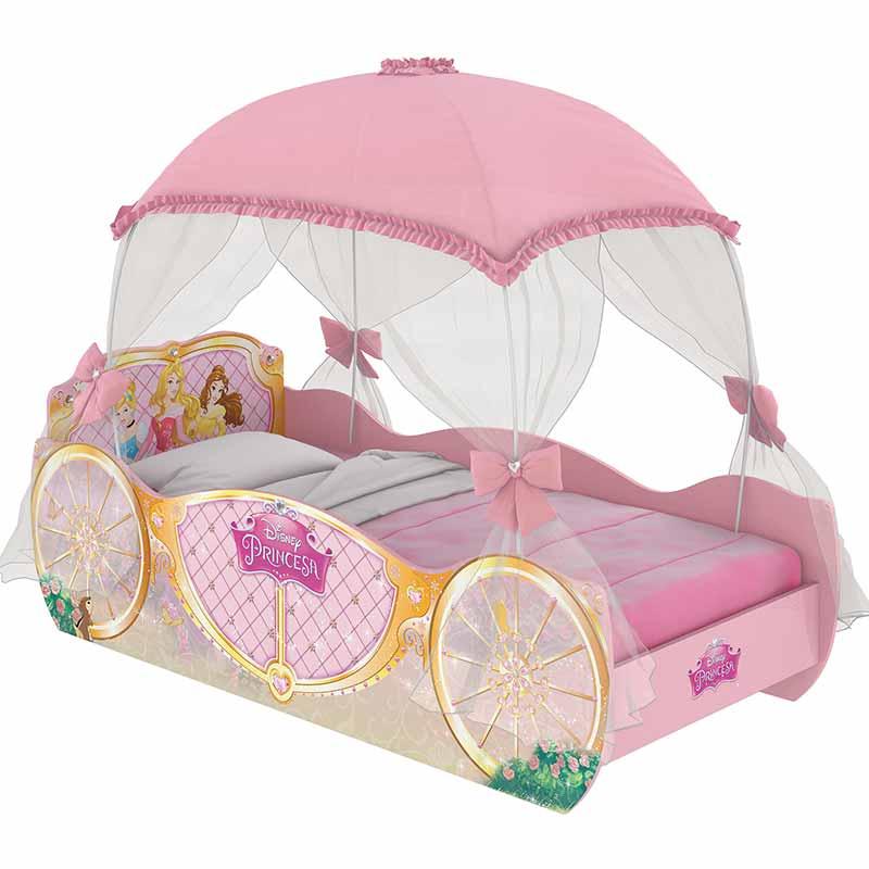 Cama infantil princesas carruagem star com dossel - Camas de princesas ...
