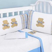 Kit Berço Pique Clean Urso Teddy 09 Pecas - Art For Baby