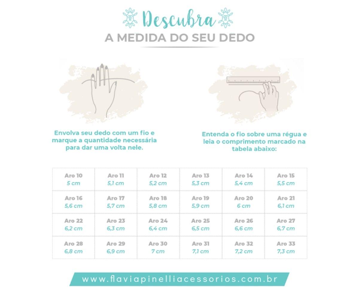 ANEL GOTA DE ZIRCÔNIA BANHADO A RODIO BRANCO