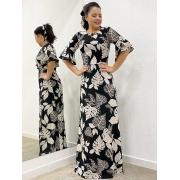 Vestido longo Haya indiano estampado